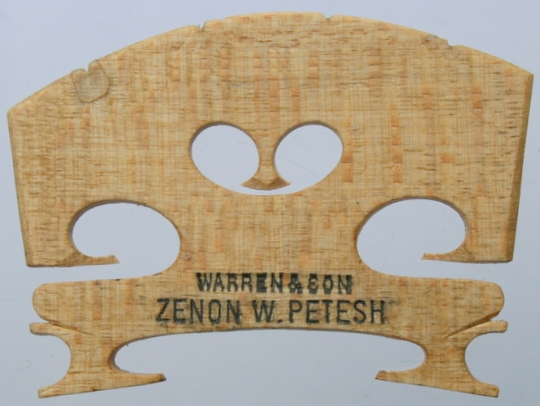 warren & son zenon w petesh – violin