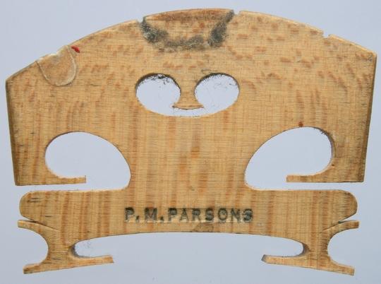 p m parsons – violin