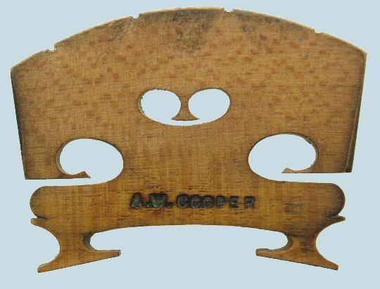 a w cooper – violin