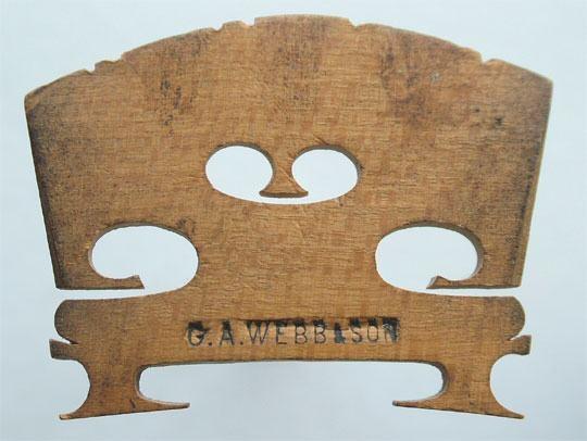 g a webb & son – violin